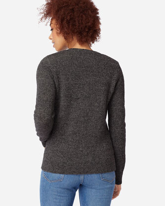 ADDITIONAL VIEW OF WOMEN'S SHETLAND WASHABLE WOOL CREWNECK IN GREY