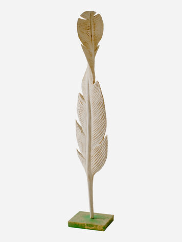 ADDITIONAL VIEW OF FALLING FEATHER SCULPTURE IN CREAM