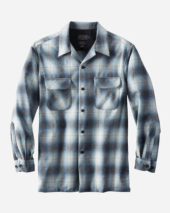 FITTED BOARD SHIRT, BLUE/CHARCOAL MIX OMBRE, large