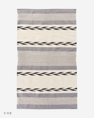 COTTON WOVEN DHURRIE RUG, MOJAVE TWILL, large