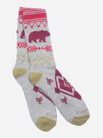 BEAR PATH CAMP SOCKS IN IVORY