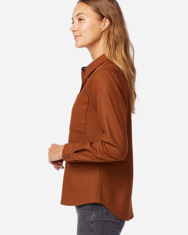 ALTERNATE VIEW OF WOMEN'S WESTON WOOL SHIRT IN COGNAC