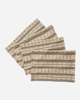 TWIN ROCKS PLACEMATS, SET OF 4 IN CAMEL