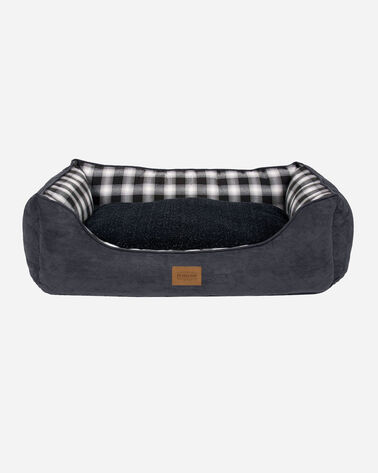 ADDITIONAL VIEW OF MEDIUM PLAID KUDDLER DOG BED IN CHARCOAL OMBRE