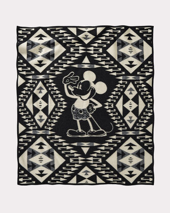 ADDITIONAL VIEW OF DISNEY'S MICKEY'S SALUTE THROW IN BROWN