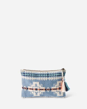 ALTERNATE VIEW OF CHIEF JOSEPH ZIP POUCH IN TURQUOISE HEATHER
