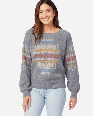 WOMEN'S WEST BEACH COTTON SWEATER IN SOFT GREY HEATHER