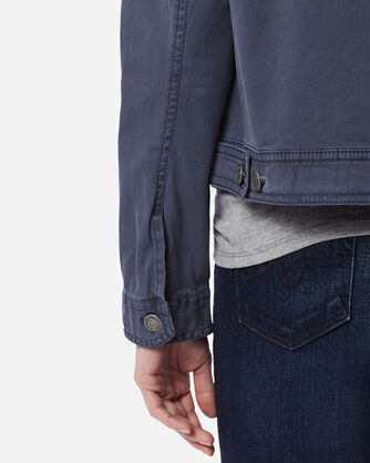 ADDITIONAL VIEW OF WOMEN'S CHINO TWILL JACKET IN INDIGO