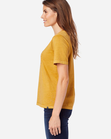ALTERNATE VIEW OF WOMEN'S DESCHUTES EMBROIDERED TEE IN MUSTARD