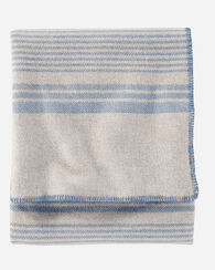 ECO-WISE WOOL PLAID/STRIPE BLANKET, TAUPE IRVING STRIPE, large