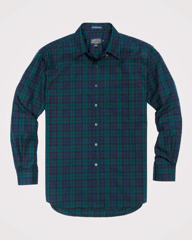 AIRLOOM MERINO SIR PENDLETON SHIRT, BLACK WATCH TARTAN, large