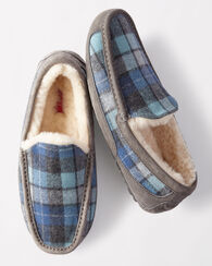 ASCOT SURF PLAID SLIPPERS, BLUE SURF PLAID, large
