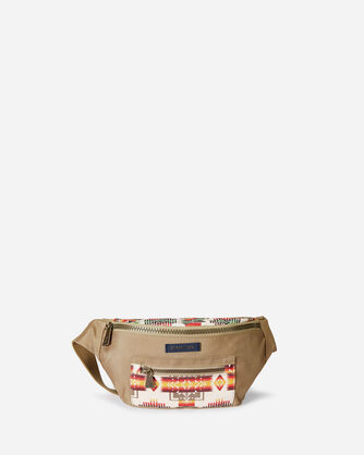 CHIEF JOSEPH CANOPY CANVAS FANNY PACK IN IVORY