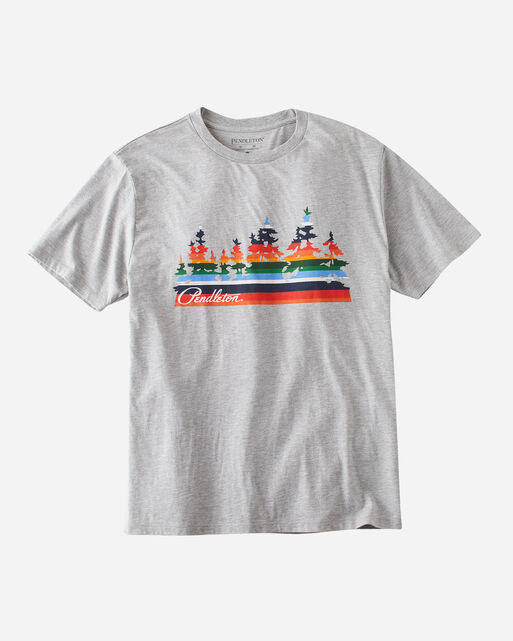 CRATER LAKE TREE GRAPHIC TEE, GREY HEATHER, large