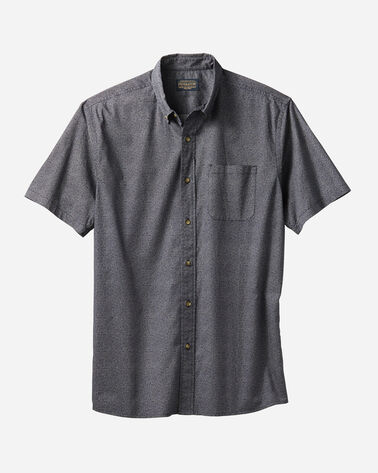 MEN'S FITTED GEO PRINT SHIRT IN NAVY/IVORY CIRCLE