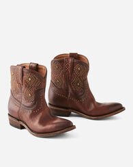 STUDDED BILLY SHORT BOOTS, COGNAC, large