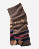 SHELTER BAY JACQUARD MUFFLER IN BROWN