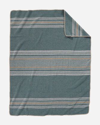 ADDITIONAL VIEW OF ECO-WISE WOOL THROW IN SHALE IRVING STRIPE