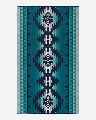 ADDITIONAL VIEW OF PAPAGO PARK SPA TOWEL IN TURQUOISE