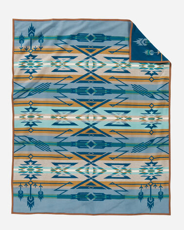 ADDITIONAL VIEW OF STAR WATCHERS BLANKET IN BLUE