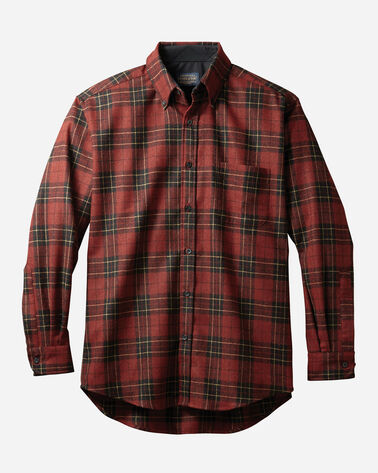 BUTTON-DOWN FIRESIDE SHIRT, BRODIE RED TARTAN, large