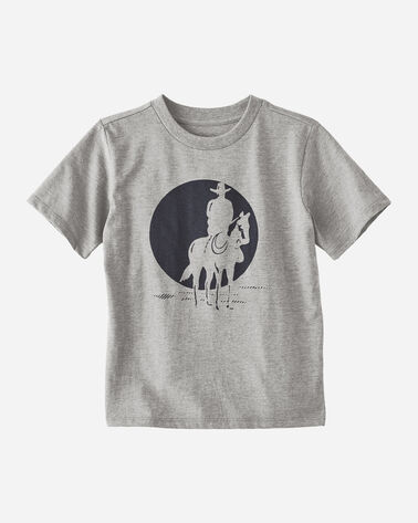 KIDS' COWBOY GRAPHIC TEE IN GREY HEATHER