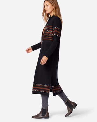 ALTERNATE VIEW OF WOMEN'S LAMBSWOOL DUSTER SWEATER IN BLACK SANTA ROSA