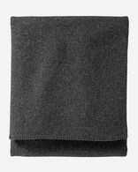 ECO-WISE WOOL SOLID BLANKET IN CHARCOAL MIX