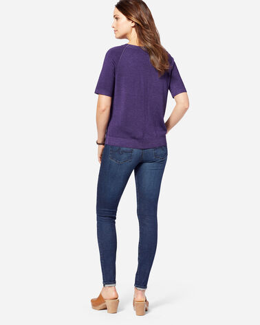 WOMEN'S MAGIC WASH MERINO PULLOVER, PURPLE, large