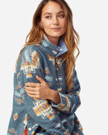 WOMEN'S DOUBLESOFT HALF-ZIP PULLOVER IN BLUE CHIEF JOSEPH