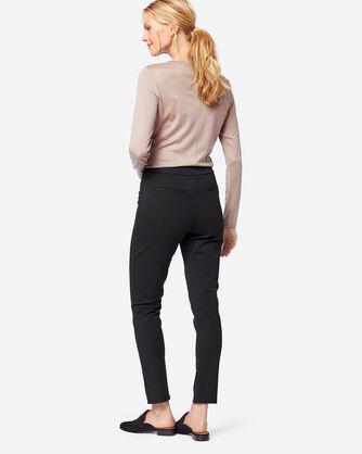 ADDITIONAL VIEW OF SEAMED SLIM PONTE PANTS IN BLACK