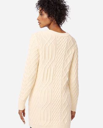 ADDITIONAL VIEW OF WOMEN'S CABLE SWEATER IN IVORY