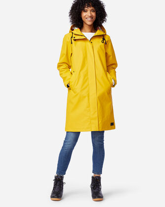 ALTERNATE VIEW OF WOMEN'S EUREKA WATERPROOF COAT IN YELLOW