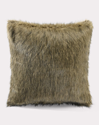 FAUX COYOTE FUR EURO SHAM, SEPIA, large
