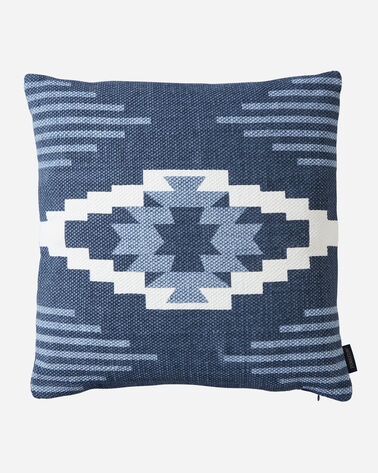 CREEKSIDE PRINTED KILIM SQUARE PILLOW IN INDIGO