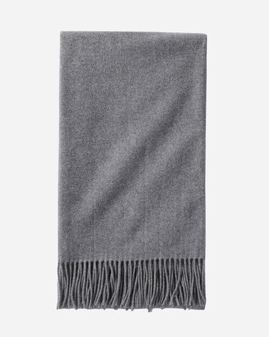 SOLID 5TH AVENUE MERINO THROW IN CHARCOAL