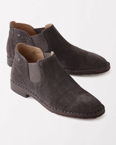 ITALIAN SUEDE ALLISON ANKLE BOOTIES, , large