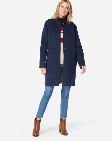 WOMEN'S AVA DOUBLE FACE JACKET, NAVY/GREY, large