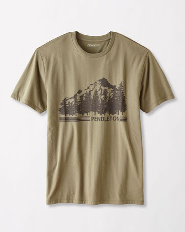 MT. HOOD T-SHIRT, SAGE, large