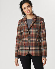 ETON PLAID BLAZER, BROWN ICONIC PLAID, large