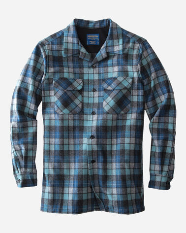 BOARD SHIRT, BLUE ORIGINAL SURF PLAID, large
