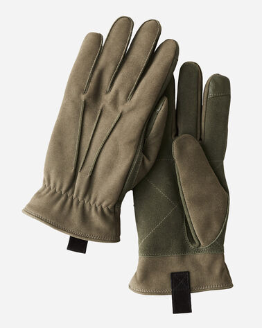 3-POINT LEATHER GLOVES, BLACK, large