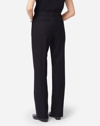 ADDITIONAL VIEW OF SHELBY AIRLOOM WOOL FLANNEL PANTS IN BLACK