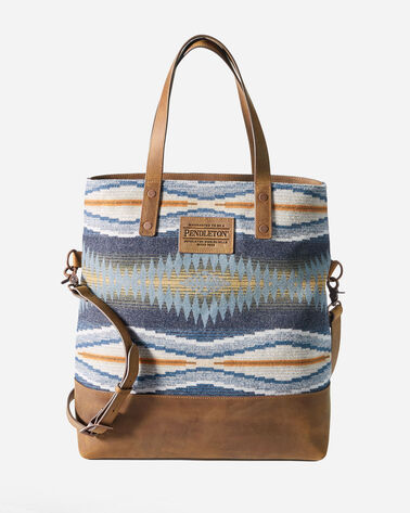CRESCENT BAY LONG TOTE IN INDIGO