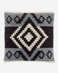 SAXONY HILLS HANDWOVEN SQUARE PILLOW, GREY, large