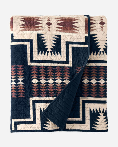 HARDING COVERLET IN NAVY MULTI