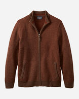 MEN'S SHETLAND FULL-ZIP CARDIGAN IN OXBLOOD