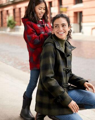 ADDITIONAL VIEW OF KIDS' VANCOUVER DUFFEL COAT IN RED BUFFALO