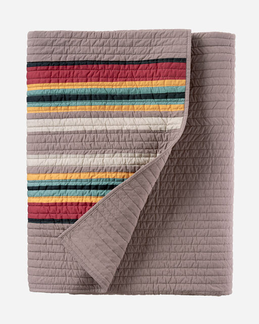 YAKIMA CAMP PIECED QUILT SET IN MINERAL UMBER