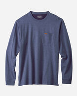 MEN'S LONG-SLEEVE DESCHUTES POCKET TEE IN BLUE HEATHER